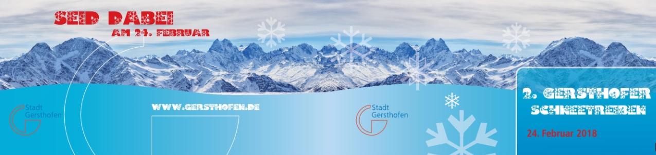 SuW: Jetzt anmelden zum 2. Gersthofer Schneetreiben!